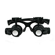 Multiple Magnification  Glasses Type 10x 15x 20x 25x Zoom Binocular Magnifier Watch Repair Magnifier With LED Light