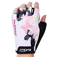 NUCKILY Cycling Gloves Fingerless Polyester and Spandex Mountain Bike Outdoor Sports Half Finger Gloves N3558