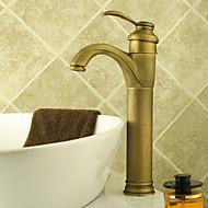 Vodovodní baterie na umyvadlo - Deska - DI Mosaz Starožitná mosaz)