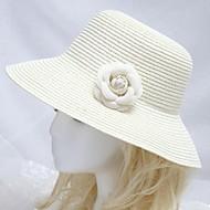 naisten merenranta aurinko hattu valkoinen kukka