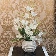 "18 ""H White Purple Orchid Arrangement s kulovou Váza"