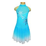 Girl's Blue Spandex Figure Skating Dress(Assorted Size)