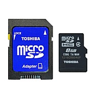 Toshiba 8GB Class 4 MicroSD/MicroSDHC/MicroSDXC/TF / SD/SDHC/SDXC / Adapters & CasesMax Read Speed4 (MB/S)Max Write Speed4 (MB/S)