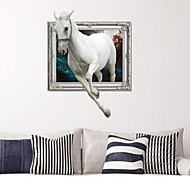 3D The White Horse Wall Stickers Wall Decals