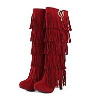 עקב Stiletto - נהירה - נשים - מגפי ברך - מגפי אופנה - מגפיים ( שחור/חום/צהוב/אדום )