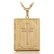 Dames Hangertjes ketting Medaillons Kettingen Koper Verguld 18K goud Kruisvorm Modieus Sieraden Bruiloft 1 stuks