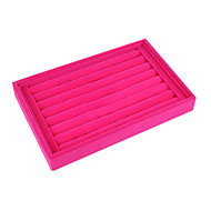 Classic Slap-up Small Size Wing Jewelry No Cover Stand Multicolor Paper Flannelette Jewelry Boxes(1 Pc)(Black,Rose)