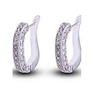 Women's New Arrival Gold Plated Best Sellers Square Zircon Earrings