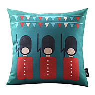 Cartoon Soldier Cotton/Linen Decorative Pillow Cover