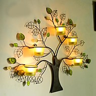 Metal Wall Art Wall Decor,Forest Tree Candelabrum Wall Decor