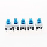 7 x 7mm itselukittuvilla kytkin - sininen + valkoinen + musta (20 kpl pakkaus)