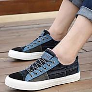 סניקרס אופנתיים - גברים של נעליים - קז'ואל - קנבס - שחור / כחול / ורוד / כחול נייבי