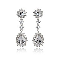 Drop Earrings Women's Vermeil/Brass Earring Cubic Zirconia