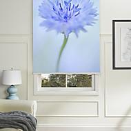 botanické styl modrý květ ⅱ válec odstín