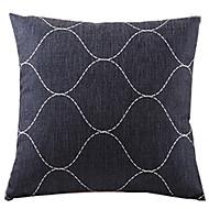 svart länkad kakel bomull / linne dekorativa örngott