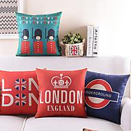 set om 4 tecknad london soldat bomull / linne dekorativa örngott