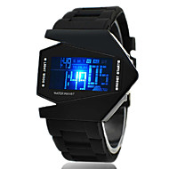 Miesten Urheilukello Rannekello Digitaalinen Watch Digitaalinen LED LCD Kalenteri Ajanotto hälytys Silikoni BändiMusta  Valkoinen
