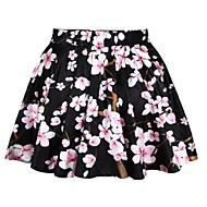 Women's Multi-color Skirts , Vintage/Sexy/Casual/Print/Cute/Party Mini
