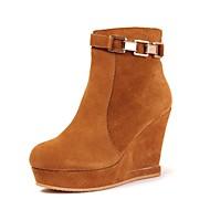 damesko rund tå kile hæl ankelstøvler flere farver
