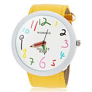 Women's Cute Big Dial Pencil Pointer Design PU Band Quartz Wrist Watch (Assorted Colors) Cool Watches Unique Watches