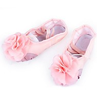 Non Customizable Kids' Dance Shoes Ballet Fabric Flat Heel Black/Other/Pink/Red