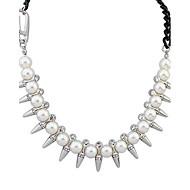 Halsband Imitation Pärla/Strass Dam Dagligen Legering