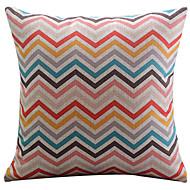 vimineous ziguezague algodão / linho capa almofadas decorativas