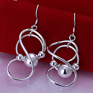 Simple Number 8 Shape Silver Plated  Earring(Silver)(1Pair)