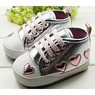 Boy's Flats Spring / Fall / Winter First Walkers / Crib Shoes Synthetic Casual Flat Heel Applique Pink / Silver