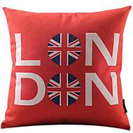 röd london bomull / linne dekorativa örngott
