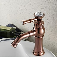 contemporain rose finition or seul trou mitigeur en laiton lavabo robinet