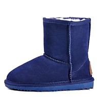 Girls' Shoes New Style Flat Heel Cowhide Anti-skidding and Aterproof Warm Snow Boots(More Colors)