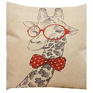 """createforlife® 18 """"travesseiro decorativo quadrado roupa retro algodão mr.giraffe desenho animado"""
