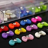 100шт цвета смешивания смола галстук-бабочка с горный хрусталь аксессуаров не включают коробки 3d украшения искусства ногтя