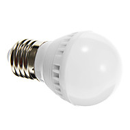 3W E26/E27 LED kulaté žárovky G45 10 SMD 2835 250-280 lm Přirozená bílá Aktivovaná zvukem / Senzor AC 220-240 V