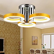 Flush Mount ,  Modern/Contemporary Traditional/Classic Chrome Feature for LED Metal Living Room Bedroom Study Room/Office
