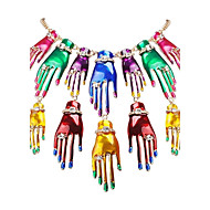 JANE STONE Women's Fashion Different Multicolor Hand Shaped Necklace