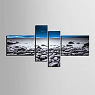 4のキャンバス地アートビーチの風景セット