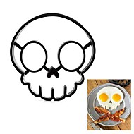 Funny Skull Egg Fry Mold Halloween Silicone Omelette 12.7*14*1.5cm (Random Color)