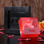 Rectangle Contemporary Rose Essential Oil Soaps Red