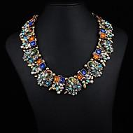 Women's Rainbow Gem Alloy Necklace