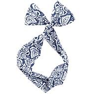 damska moda niebieski i biały szyfon przewodowy opaski