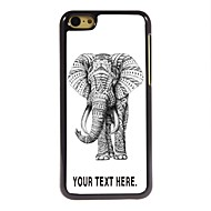 iPhone 5cのためのパーソナライズされた場合の象のデザイン金属ケース