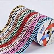 팔분의 삼 인치 아프리카 초원 사용자 정의 지브라 패턴 리브 리본 인쇄 (더 많은 색상) 롤 당 25야드을 ribbon-