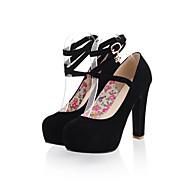 Chaussures Femme - Habillé - Noir / Bleu / Rouge / Beige - Gros Talon - Bout Arrondi - Talons - Similicuir