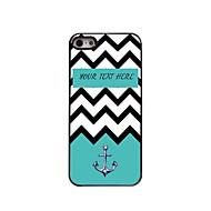 גל אישית ים מתנה ומקרה עיצוב מתכת עוגן ל5 / אייפון 5s