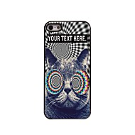 εξατομικευμένη περίπτωση που η γάτα σχεδιασμού μεταλλική θήκη για το iphone 5 / 5s