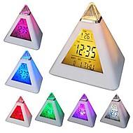 coway 7 cores em mudança levou em forma de pirâmide digitais do despertador calendário termômetro noturna