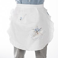 "Embroidered Cotton Fabric Apron,18X20""(45X50CM)"