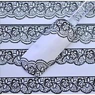 dantelă albă autocolante pentru unghii